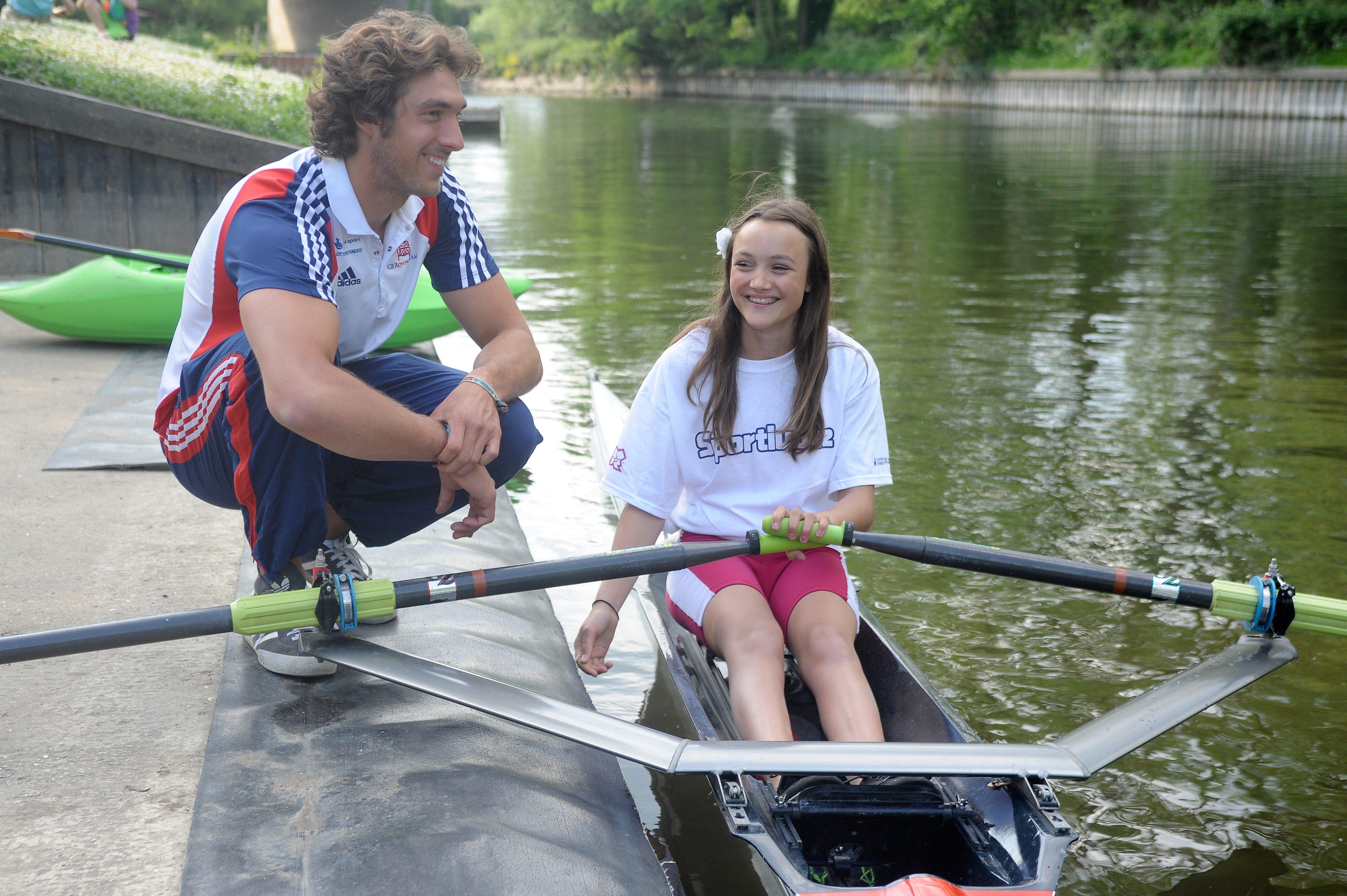 Sporting Champion Charles Cousins talks to Georgina Napier-Munn and shares tatics at Sport England at Longridge Activity Cente