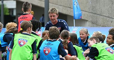 Coach Core - Male coaching children