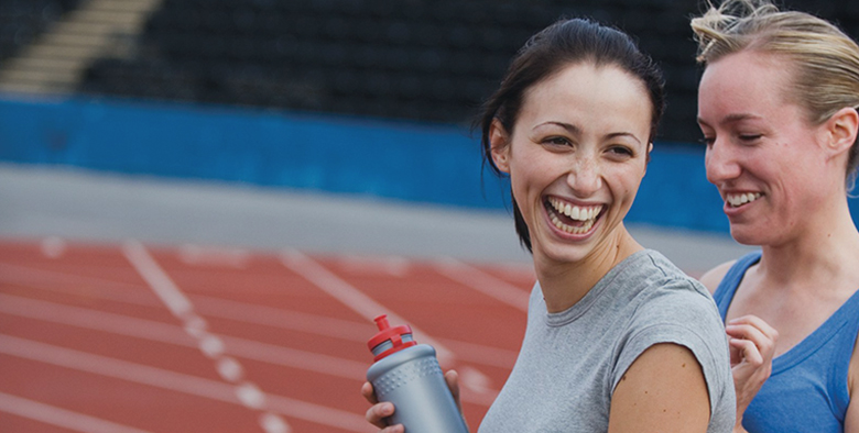 Active Workplace Support - Two women enjoying sport