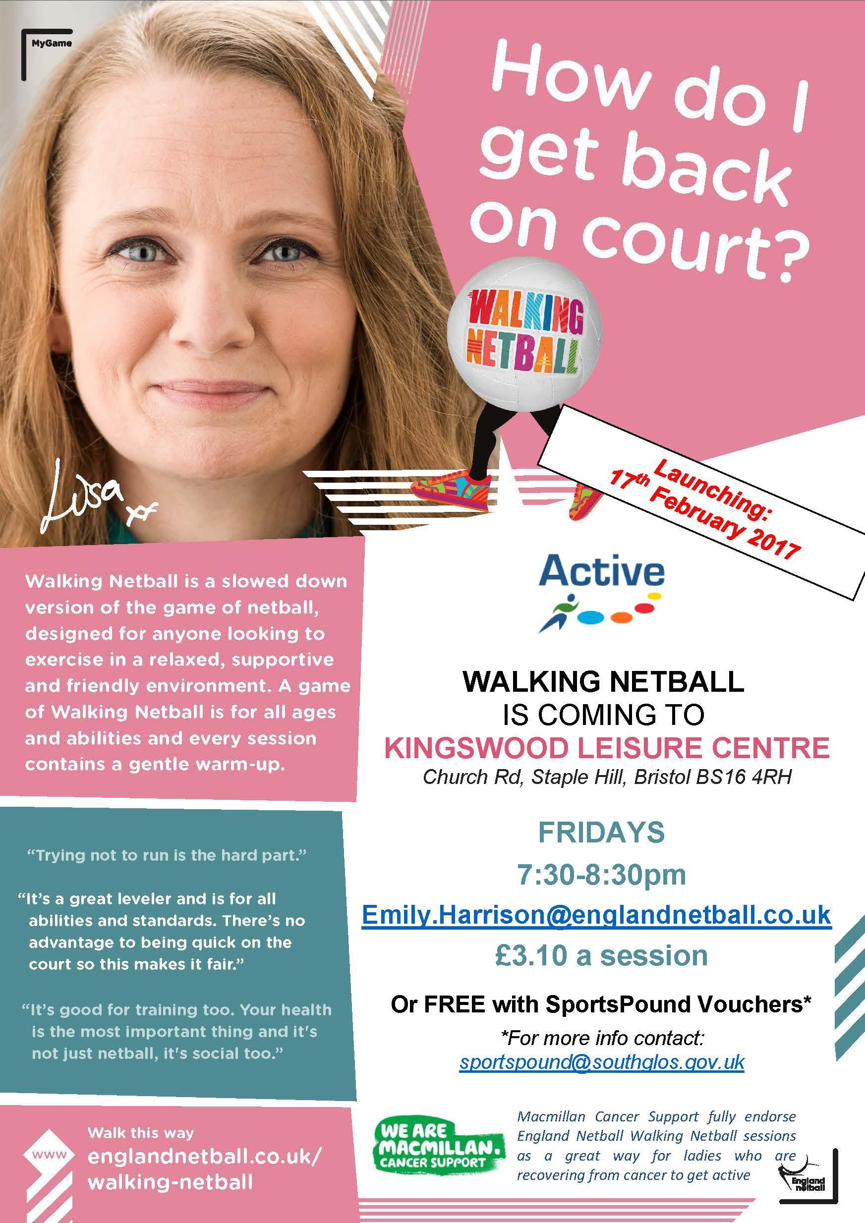 Kingswood Walking Netball Poster