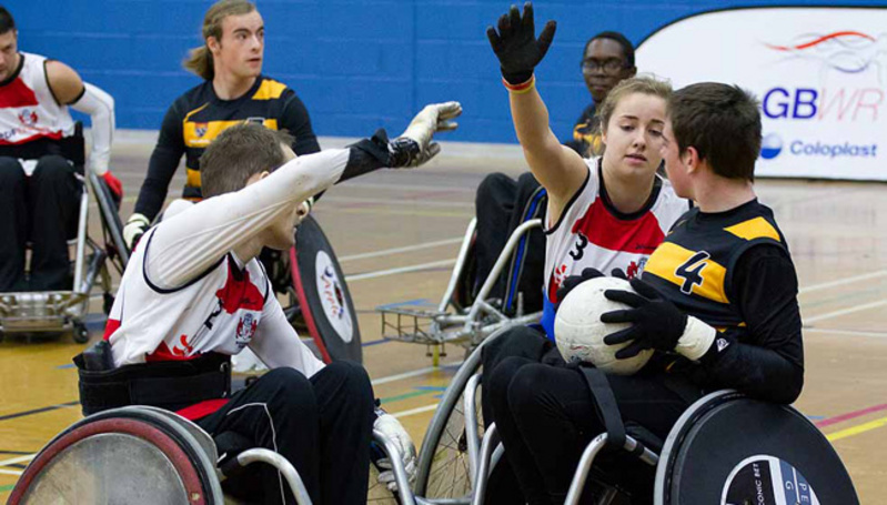 Mixed wheelchair rugby game