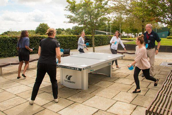 Wesport Team playing Ping