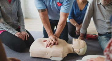 People on a course - First Aid